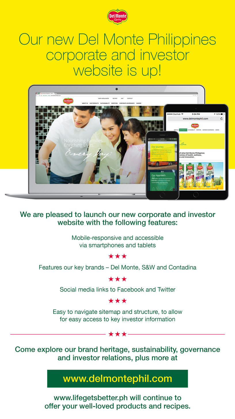 Del Monte Philippines Corporate and Investor Website